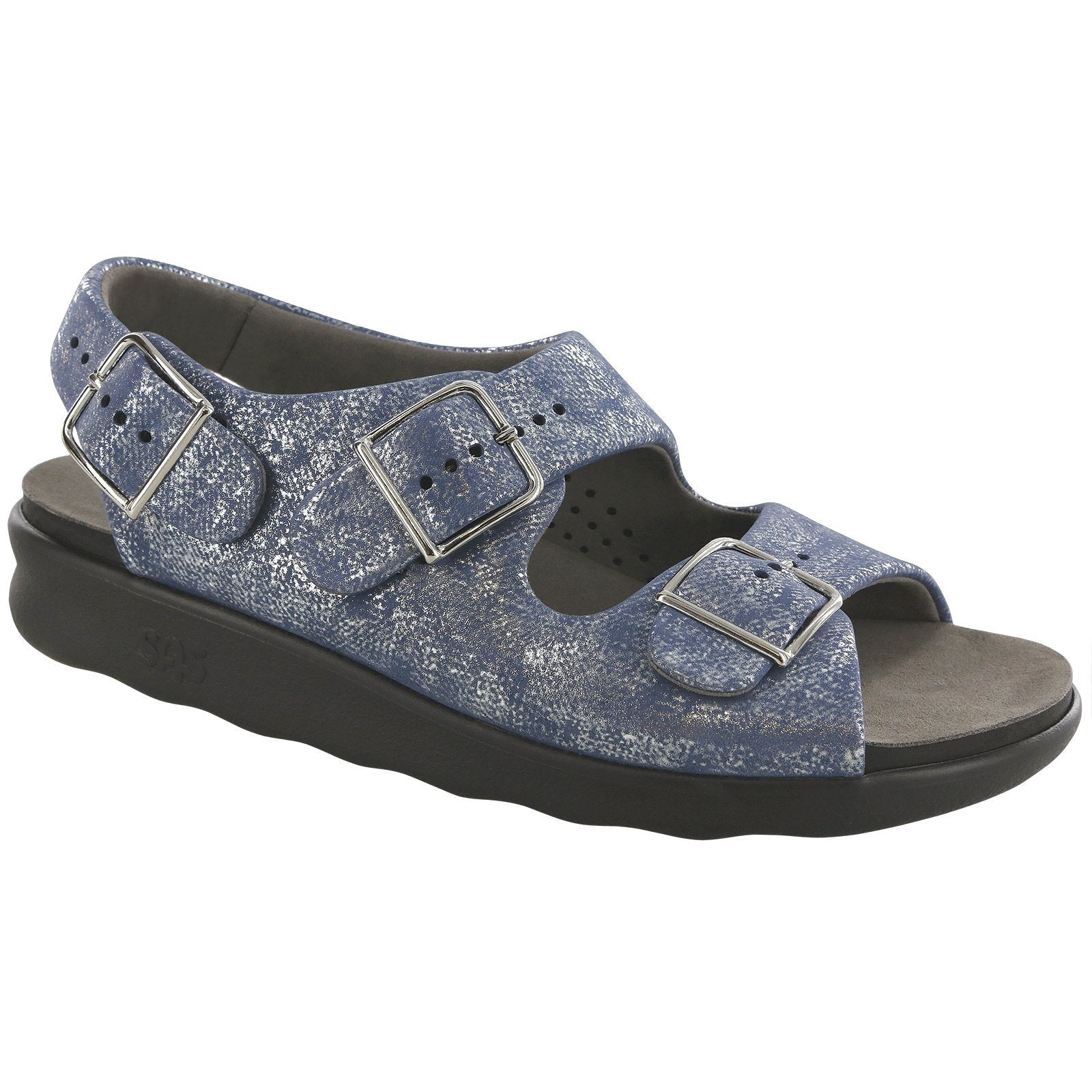 SAS Shoes Relaxed Silver Blue: Comfort Women's Sandals