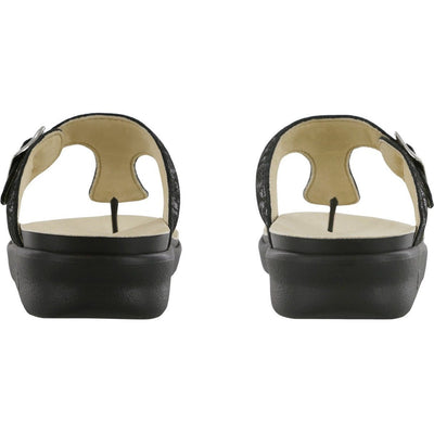 SAS Shoes Sanibel Nero Snake: Comfort Women's Sandals
