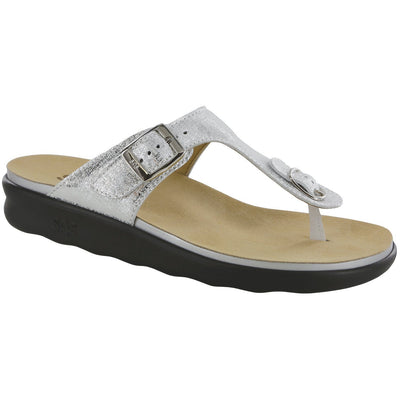 SAS Shoes Sanibel Shiny Silver: Comfort Women's Sandals