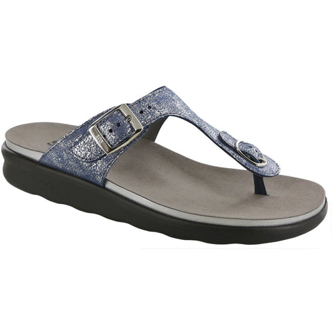 SAS Shoes Sanibel Silver Blue: Comfort Women's Sandals
