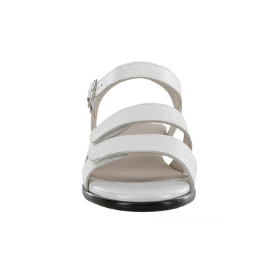 SAS Shoes Savanna White Lizard: Comfort Women's Sandals