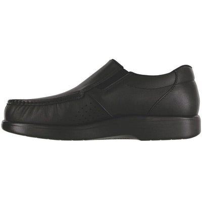 SAS Shoes Side Gore Black Smooth: Comfort Men's Shoes