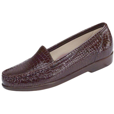 SAS Shoes Simplify Brown Croc: Comfort Women's Shoes