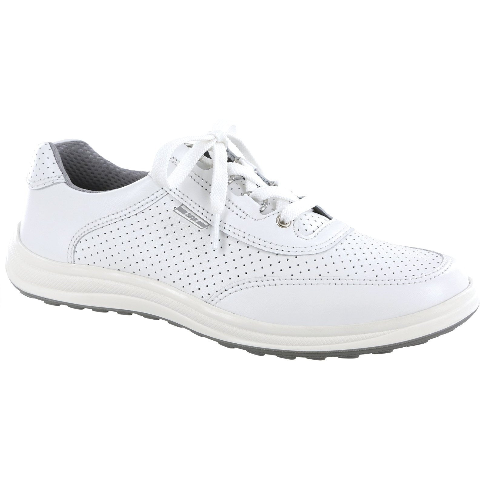 Sporty Lux White Perf by SAS Shoes: Comfort Women's Shoes