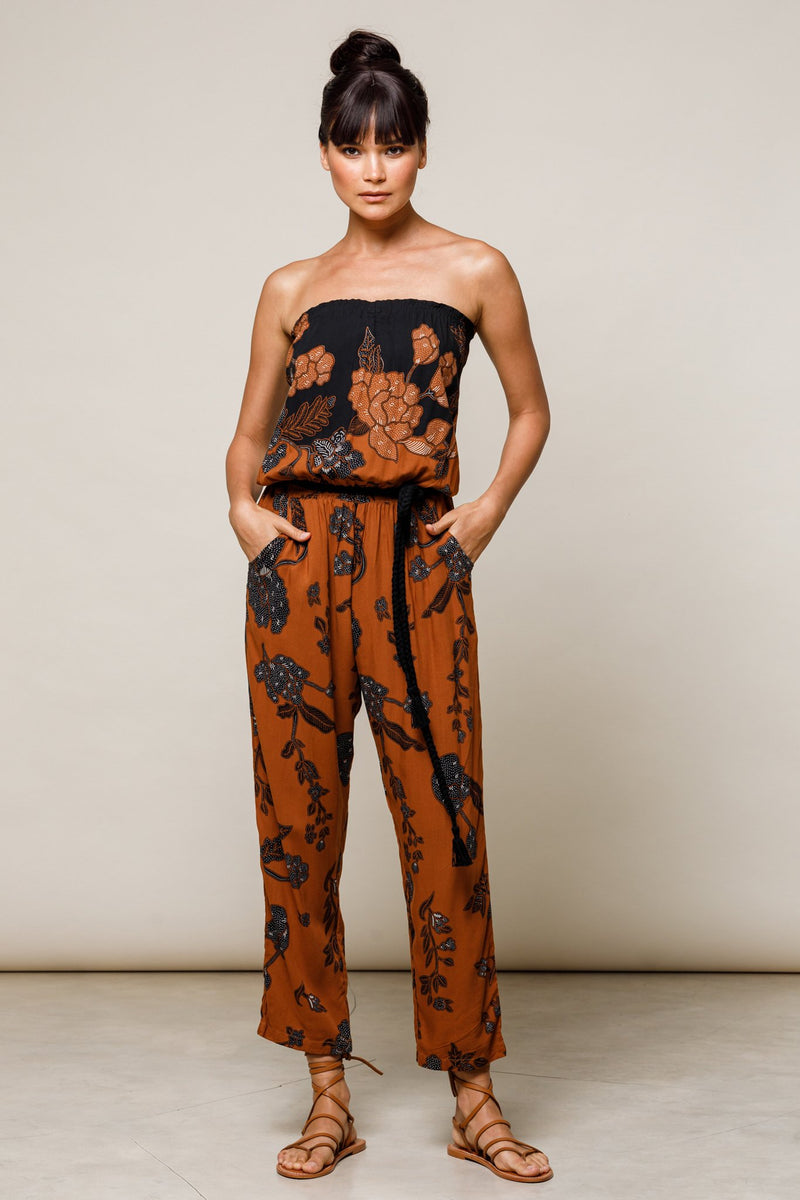 Strapless Jumpsuit - Batik - Beachgold