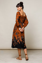 Elyse Belted Maxi Dress - Batik - Beachgold