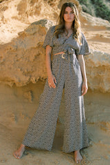 Piper Wide Leg Pant in Shades Abstract