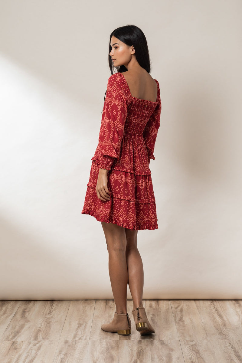Penny Shirred Mini Dress - Ruby Khan