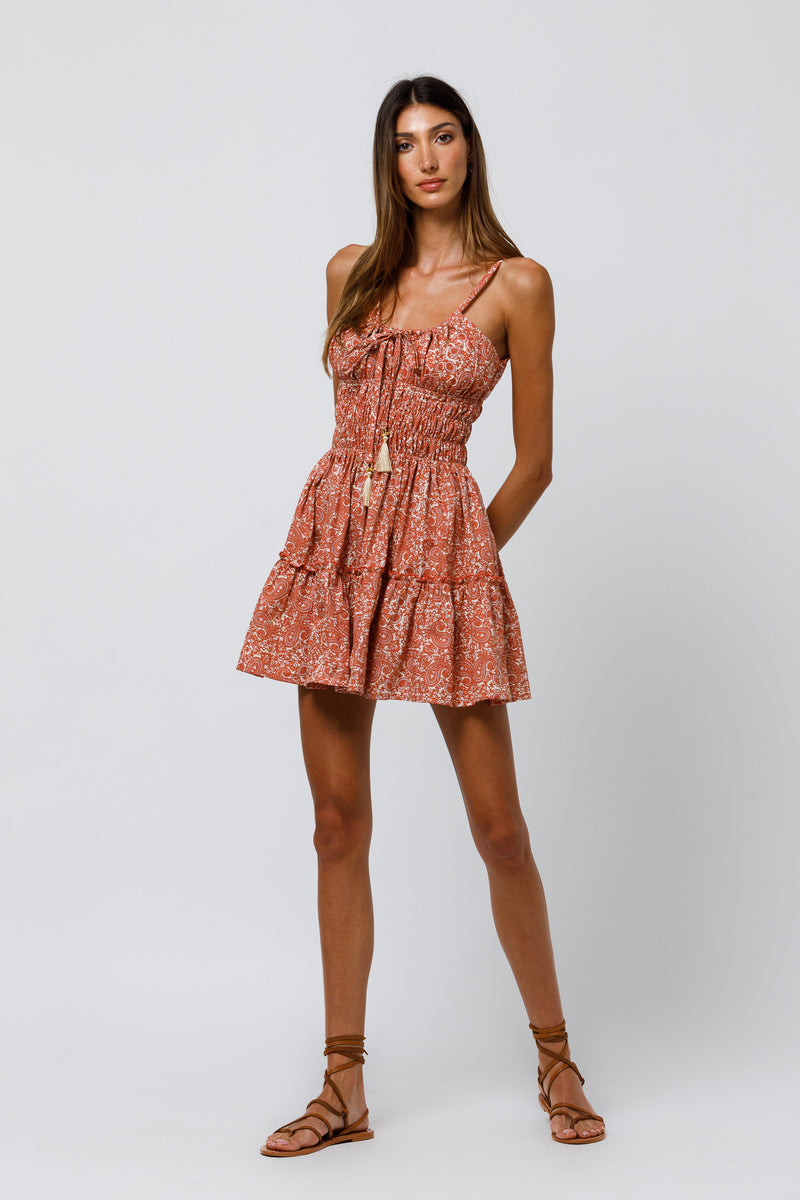 Rosa Mini Dress in Kismet Poplin