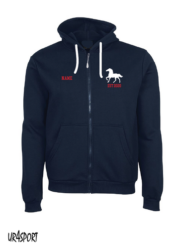 Elwood Stallions - Zip thru Hoodie optional Name extra