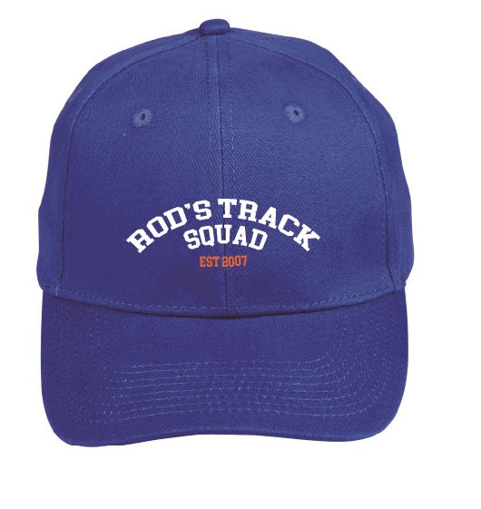 ROD'S TRACK SQUAD - Peak Running Cap - Royal ** available to order now**