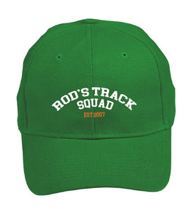 ROD'S TRACK SQUAD - Peak Running Cap - Green ** available to order now**