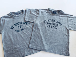St Kilda City JFC Cotton Tee -Grey Marle- kids sizes only