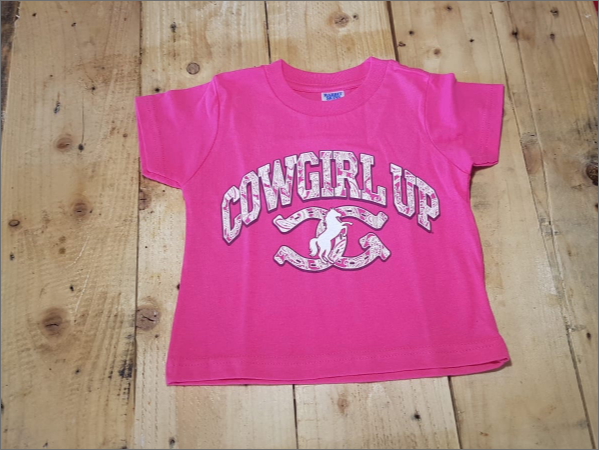 Kids T-shirt - Cowgirl Up