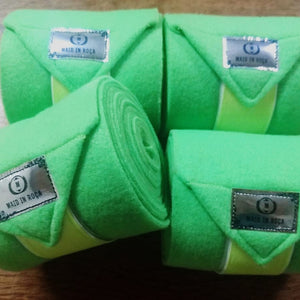 Polo Bandages / Wraps - Lime Green  Set