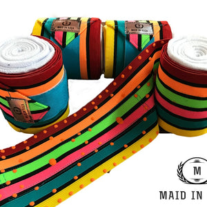 Elastic Polo Bandages / Wraps - Multicolored set
