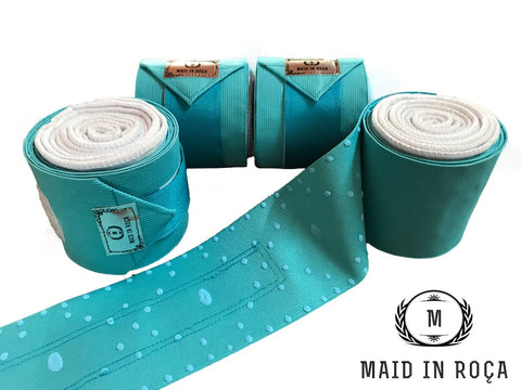 Elastic Polo Bandages / Wraps - Turquoise set