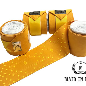 Elastic Polo Bandages / Wraps - Yellow set