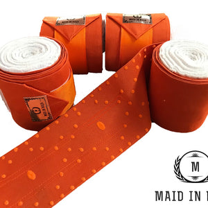 Elastic Polo Bandages / Wraps - Orange set