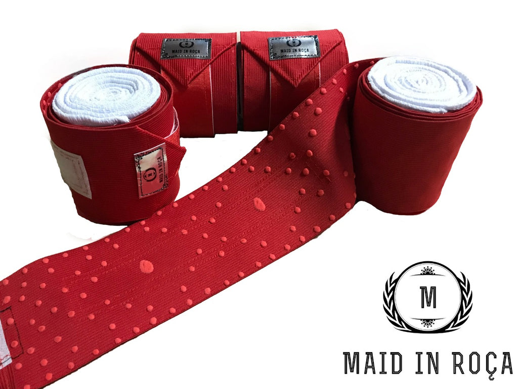 Elastic Polo Bandages / Wraps - Red set