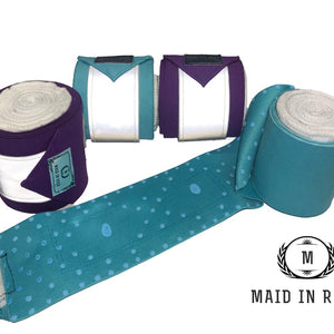 Elastic Polo Bandages / Wraps - Blue