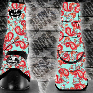 Sport Medicine boots -  Red Paisley (New)