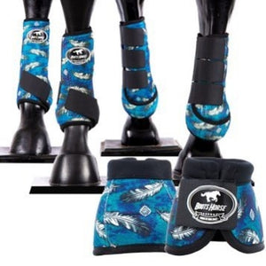 Sport Medicine boots - Blue Feathers