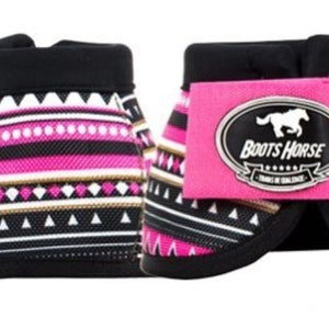 Bell Boots (no turn) - Pink Tribal