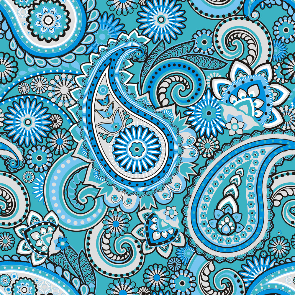 Set Latigos - Blue Paisley