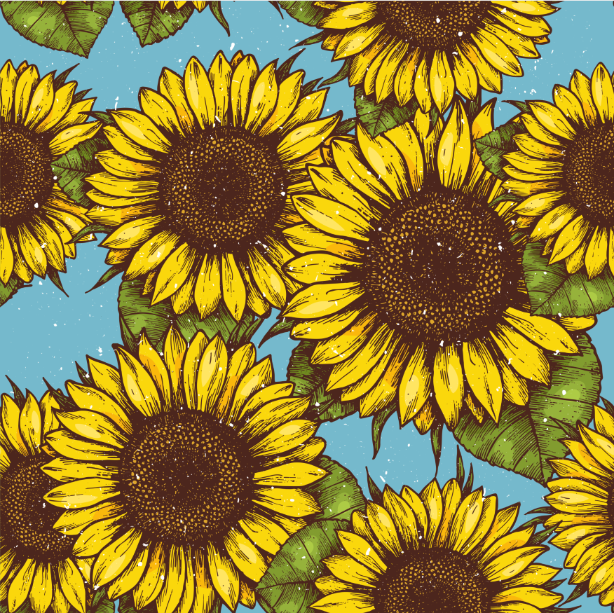 Bell Boots (no turn) - Sunflowers (New)