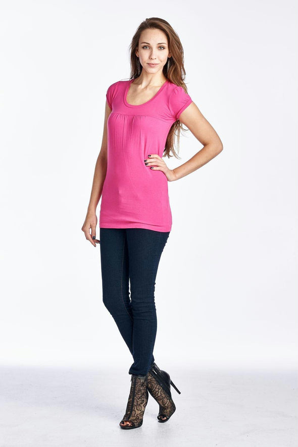 Women's Round Neck T-Shirt Top