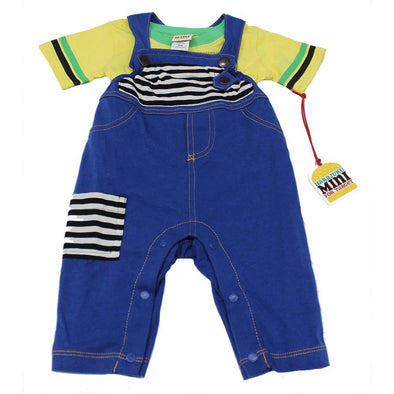 Boys Yellow T-Shirt with Blue Jean Overalls at Clotheschica.com