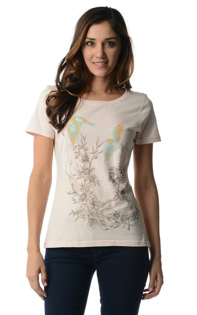 Women's Short Sleeve Embroidered Tee