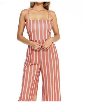 Women's Stripe Sleeveless Jumpsuit
