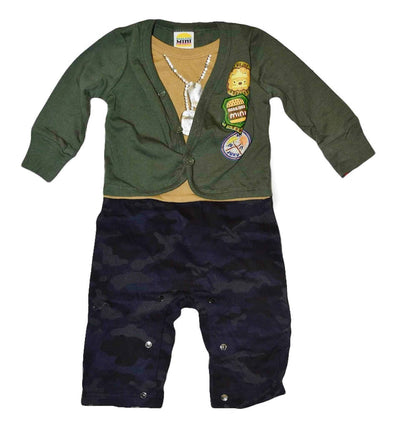 Boys Black Pants + Green Sweater Set at Clotheschica.com