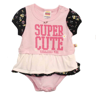 Infant Super Cute Pink/White Onesie at Clotheschica.com