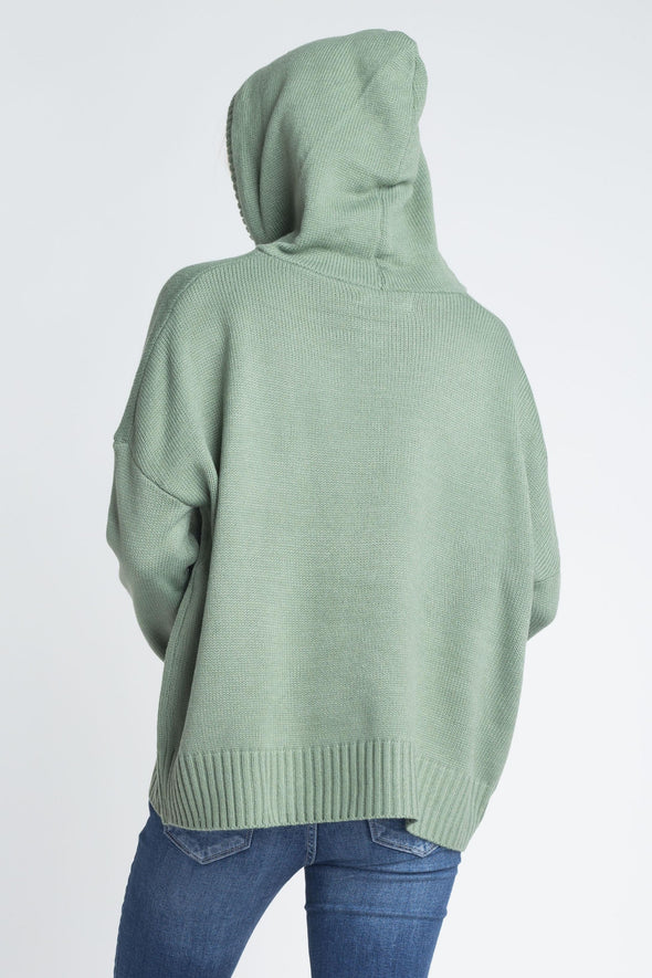 Women's Knit Pullover Hooded Swear