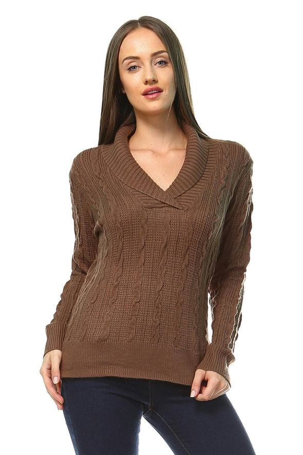 Women's Knitted V-Neck Sweater