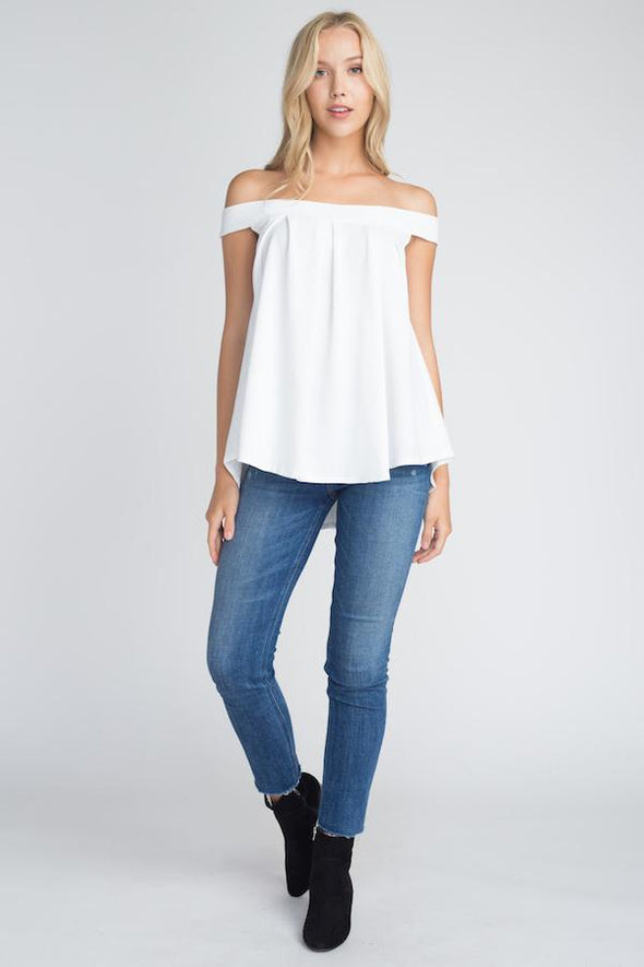 Women's Off Shoulder Flow Top