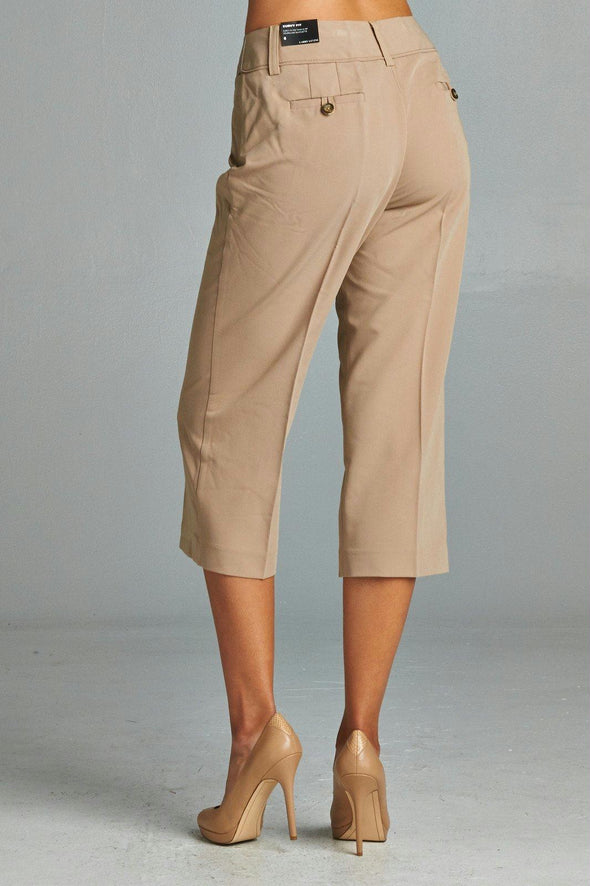 Larry Levine Capris With Straight Hem
