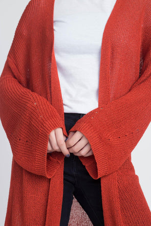 Women's Long Knit Thin Cardigan