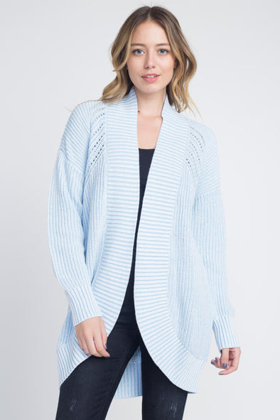Women's Ribbed Round Oversized Cardigan