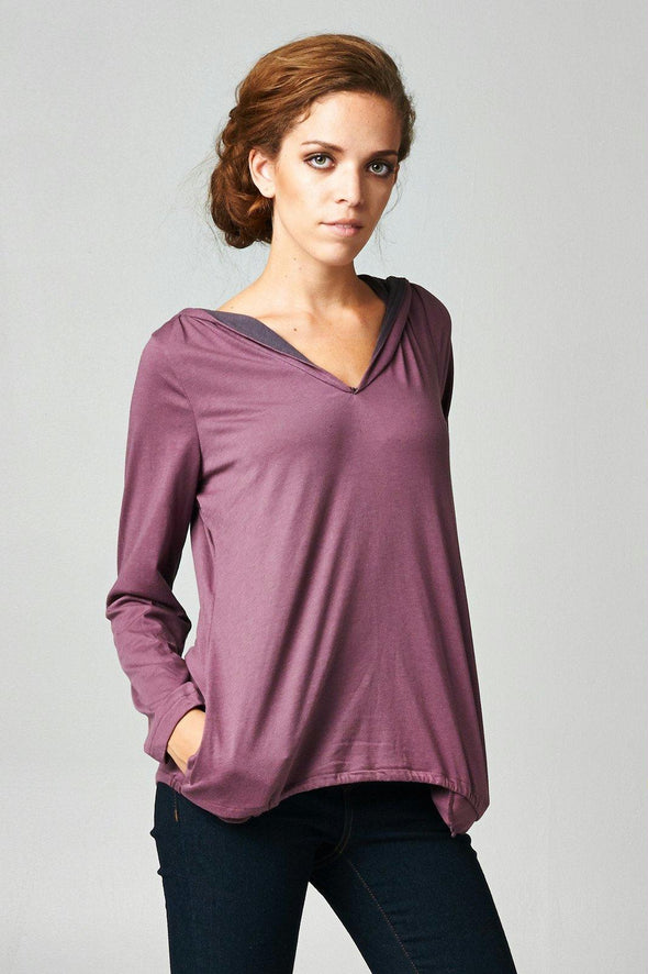 Women's Long Sleeve Hoodie with Welt Pockets