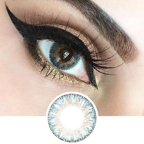 Aqua Color Contact Lenses - 4 tone