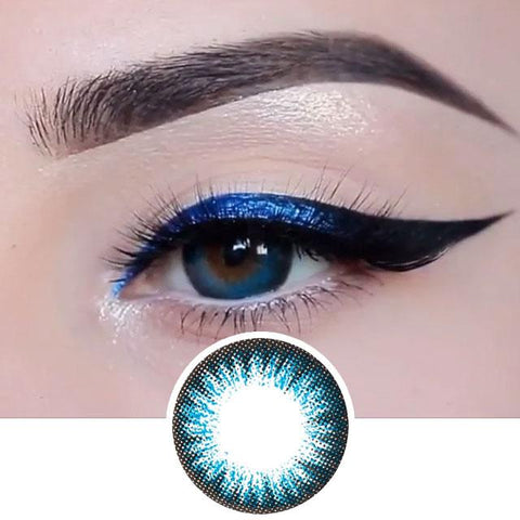 Blue Color Contact Lenses 2 Tone