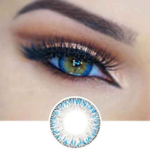 Blue Colored Contacts - 4 Tone