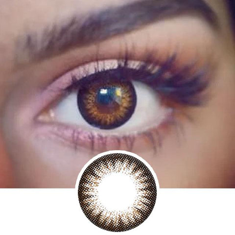 Brown Color Contact Lenses 2 Tone