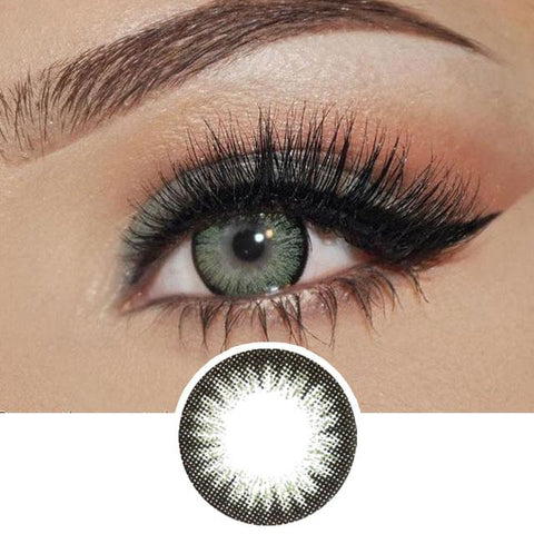 Green Color Contact Lenses 2 Tone