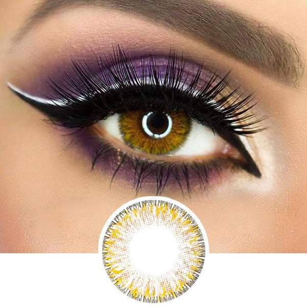Honey Color Contact Lenses - 4 Tone