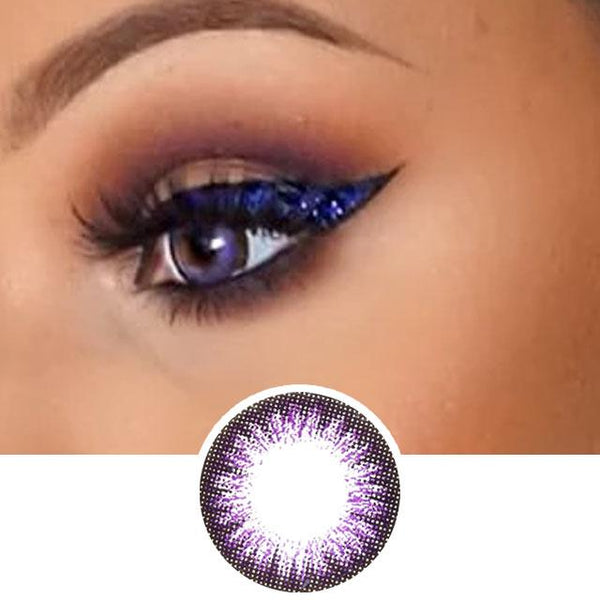 Violet Color Contact Lenses 2 Tone
